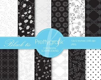 80% OFF SALE Black tie digital paper, commercial use, scrapbook papers, background - PS544