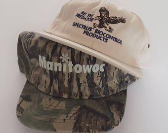 Vintage Lot (2) Snapback & Strapback Hats VTG