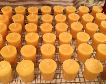 50 Votive Beeswax Candles