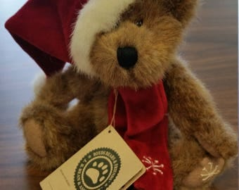 Collectible Boyds Bear - 2000 Retired Boyds Christmas Holiday Bear - A. J. Blixen With Tags