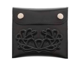 Black small wallet / vegan wallet / medusa coin wallet / a wallet insert / small change / a big difference / small change purse