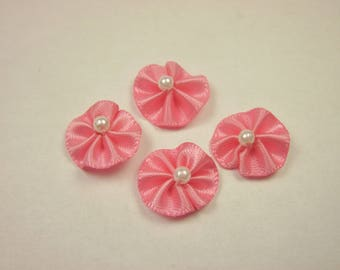 4 nodes in multicolored flower fabric (A308)