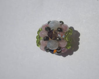 round bead made of Crystal beads and glass 13 mm approximately (PV23-38)