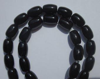 4 oval mineral agate colored 12 mm approximately (2-10 beads