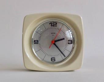 Vintage Capsule Wall Clock by Gorenje, 70s Yugoslavia / Creamy White
