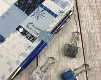 Planner Charm - Winter Snowflake Theme Solid and Patterned Planner Jewelry, Accessories