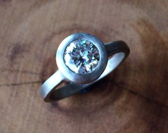 Moissanite Ring - Ready to Ship