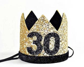 Adult Birthday Crown || 30th Birthday For Her || Dirty 30 Birthday || 30th Birthday Hat || Adult Party Hat || Birthday Crown Adult ||
