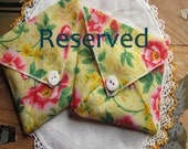 RESERVED Small Hostess Gift, Thank You Gift, Volunteer Appreciation Gift, Vintage Hanky Sachet, Baby Shower Favor, Sach42