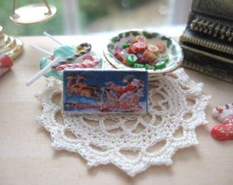 dollhouse christmas candy  bar christmas chocolate sweets confectionary 12th scale