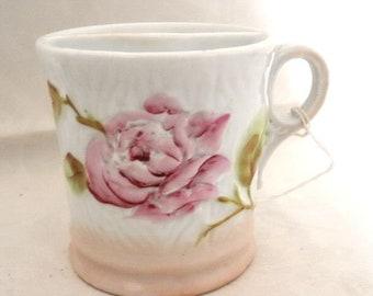 Vintage Shaving Mug with Rose