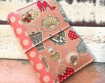 Fieldnotes /Passport/Pocket  Size Fabric Fauxdori -Fabric Travelers Notebook -Fauxdori
