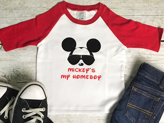 Mickey Is My Homeboy Glasses Personalized Disney Shirt Boy