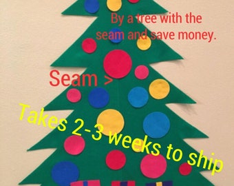 After Christmas SALE Seamed Felt Christmas Tree Kit