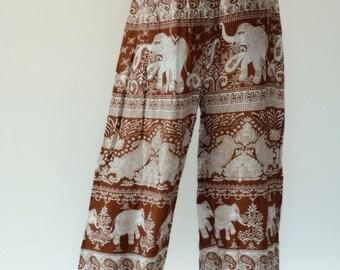 KD0035 Rope and Elastic Waist KID pants - bohemian clothing KID yoga pants harem pants hippie trousers