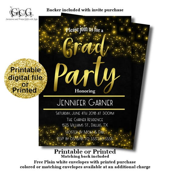 High School Graduation Party Invitation Graduation Announcement