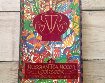 Vintage RUSSIAN TEA ROOM Cookbook, Recipe Book- 1980s Recipes from the Famous New York City Restaurant