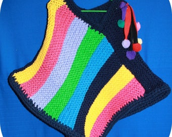 child poncho 2 multicolor and very pretty