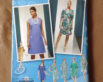 Simplicity Project Runway 2995 Dress Pattern UNCUT size 4-12