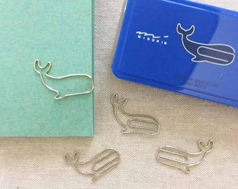 Midori D-Clips Paper Clips - Whales (Small)