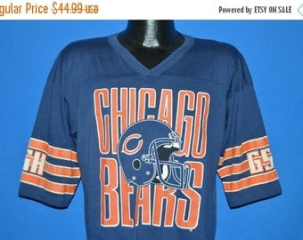 ON SALE 80s Chicago Bears Jersey t-shirt Large