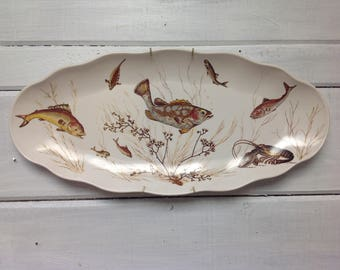 Vintage Tropical Fish Platter by Waverly