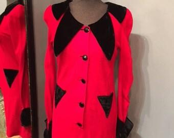 1960's Red & Black Dress