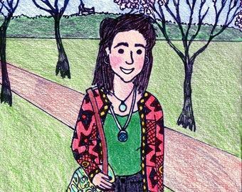 Custom Hand Drawn Illustration/ Portrait