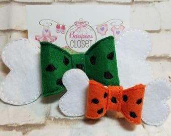 Bow Styled Headbands for Girls, Girl 3D Bow Barrette Headband, Flintstones Little girl Bow, Pebbles Bow, Pebbles Headband, Stone Age Bow