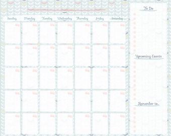 Printable Calendar / Command Center Calendar/ DIY Calendar/ Family Command Center/ Organization/ Home Office Calendar