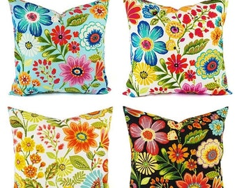 15% OFF SALE OUTDOOR Pillow Cover   Floral Pillow Cover   Bright Pillow    Toss
