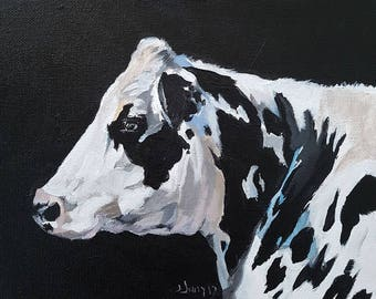 Cow Painting, Cow Art, Cow Wall Art, Cows, Acrylic Painting of a Cow