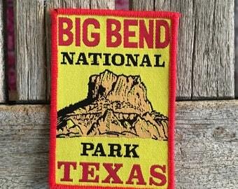 Big Bend National Park Texas Vintage Travel Patch