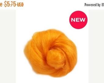 SALE Tussah silk fibers ,  melon