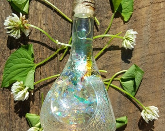 Antique Rainbow Potion Bottle