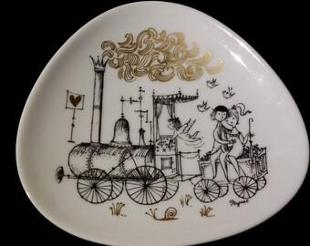 Ring Dish Peynet Lovers Studio Linie Rosenthal Love Train Midcentury Vintage