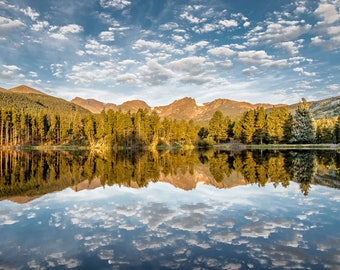 Sprague Lake Sunrise in Rocky Mountain National Park