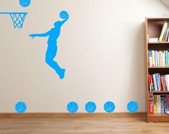 Basketball Player Slam Dunk A37