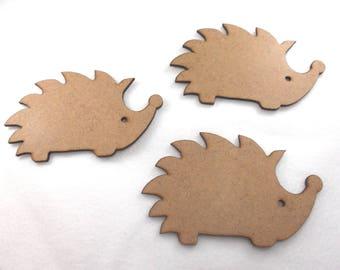 3 hedgehogs, 12x8 cm, MDF (MDF10-0003B)