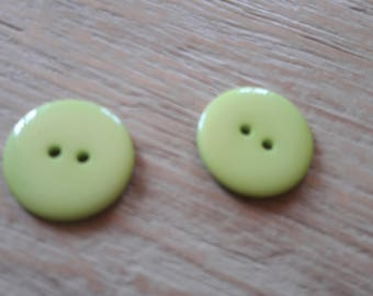 Déstocke * set of 5 buttons green sewing, scrApbooking, jewelry