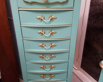 OrderOne Today French Provincial Lingerie Dresser, Lingerie Chest, French Chest, Shabby Chic, Bohemian, Tall Dresser, Thin Dresser