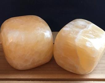 Orange Calcite Palm Stone, Power Stone, Healing Stone, Healing Crystal, Chakra Stones, Spiritual Stone
