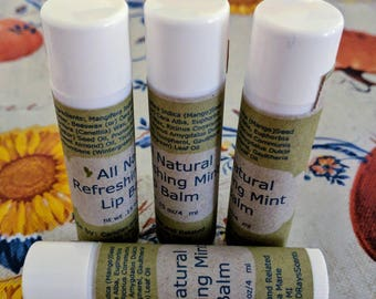All Natural Lip Balm, Made with Essential Oil *FREE SHIPPING*