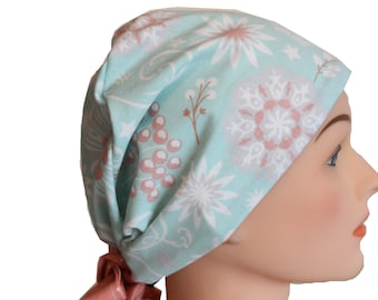 Scrub Hat Surgical Scrub Cap Chemo Vet Nurse Dr Hat European Pixie Style Ceil Blue Green Peach 2nd Item Ships FREE