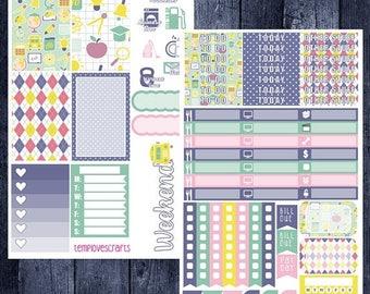 School Days Kit for Happy Planner