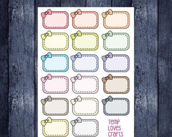 Weekend Sale Bow Half box stickers for erin condren life planner, filofax, daytimer, plum planner, kikki k or any planner