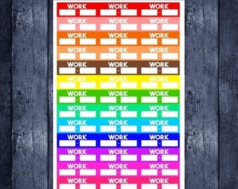 Weekend Sale Work labels for your erin condren life planner, daytimes, Filofax, or any planner