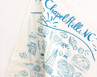 Chapel Hill Map Tea Towel