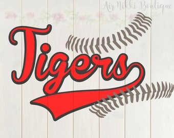 Tigers baseball, Baseball Love, laces, sports SVG, PNG, DXF files, instant download