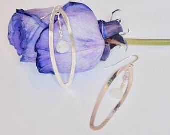 Drop Earrings, Contemporary Earrings, February Birthstone, Sterling Silver Boho Dangle Earrings, Gift For Her, Everyday Swarovski Earrings